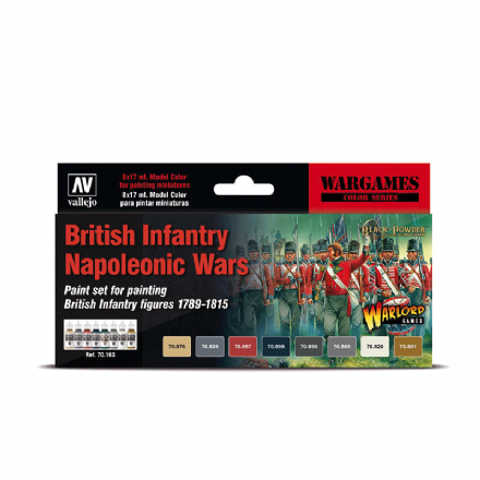 Vallejo Model Colour British Infantry Napoleonic Wars Paint Set